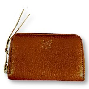 Johnny Was zip around wallet cognac leather